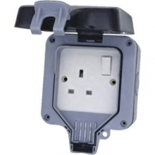 picture of elex dwps1 1g weatherproof switch socket ip66