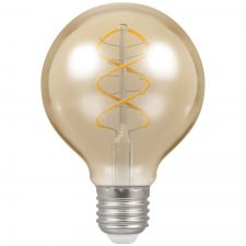 PICTURE OF LED G80 SPIRAL FILAMENT DIMMABLE 6W 2200K ES E27