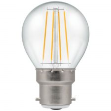 PICTURE OF LED ROUND FILAMENT CLEAR DIMMABLE 5W 2700K BC B22d LAMPS