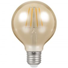 PICTURE OF LED GLOBE FILAMENT ANTIQUE DIMMABLE 5W 2200K ES E27 LAMP