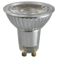 PICTURE OF LED GU10 GLASS COB DIMMABLE 6W 2700K LAMP