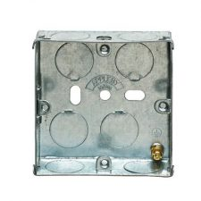 picture of appleby sb655 1gang 25mm metal socket box flush