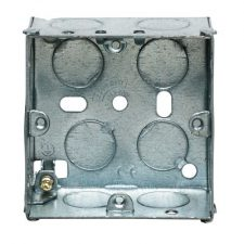 picture of appleby sb615 1gang 35mm metal socket box