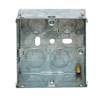 picture of appleby sb618 1gang 47mm metal socket box