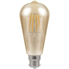 PICTURE OF LED ST64 FILAMENT ANTIQUE DIMMABLE 5W 2200K BC B22d LAMP