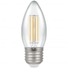 PICTURE OF LED CANDLE FILAMENT CLEAR DIMMABLE 5W 2700K ES E27 LAMP