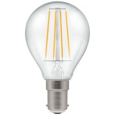 PICTURE OF LED ROUND FILAMENT CLEAR DIMMABLE 5W 2700K SBC B15d LAMP
