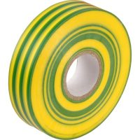 PICTURE OF PVC ELECTRICAL INSULATING TAPE 19MMX20M GREEN/YELLOW