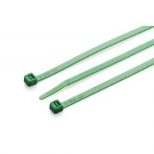 PICTURE OF 200X4.8MM GREEN NYLON CABLE TIES 100 PER PACK