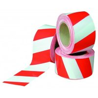PICTURE OF RED AND WHITE BARRIER TAPE