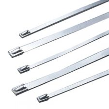 PICTURE OF 360X4.6MM STAINLESS STEEL CABLE TIES PACK OF 100 GRADE 316