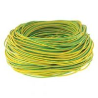 6mm pvc green/yellow over cable sleeving