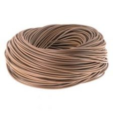 picture of 6mm brown pvc cable sleeving