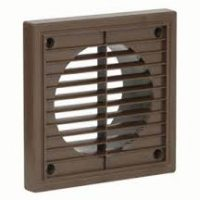 """picture of 4"""" brown fixed grille"""