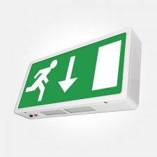 PICTURE OF ETERNA EXIT3MLED LED IP20 MAINTAINED EMERGENCY EXIT BOX WITH LEGEND