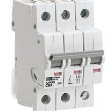 PICTURE OF DORMAN SMITH T3PD63 63A TP TYPE: D MINIATURE CIRCUIT BREAKER MCB