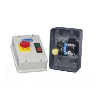 PICTURE OF EUROPA BE2-D253N7 25A 11KW 415V AC COIL METAL ENCLOSURE 2 BUTTON DIRECT ONLINE STARTER DOL WITH ISOLATOR