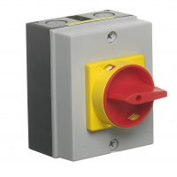 PICTURE OF EUROPA LB403PSN 40A 3POLE IP65 ENCLOSED SWITCH DISCONNECTOR WITH SWITCH NEUTRAL