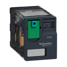 PICTURE OF SCHNEIDER RXM4AB1BD 4 C/O 24VDC 6A MINIATURE PLUG-IN RELAY