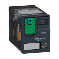 PICTURE OF SCHNEIDER RXM4AB2BD 14PIN MINIATURE PLUG-IN RELAY 4 C/O 24VDC 6A WITH LED